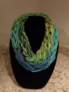 Skinny Infinity Arm Knitted Scarf/Cowl by IdleHandsCrochetKnit on Etsy
