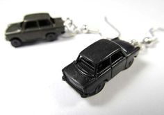 Trabbi earrings Trabant Car black DDR GDR Trabi by miniblings,