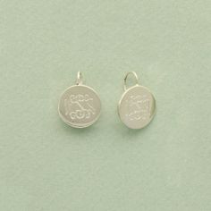 Monogrammed Sterling Silver Round Wire Earrings $75 @NoteworthyNotes