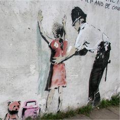 Banksy - Police Search Art Print