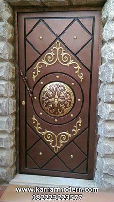 Steel Door Iglesia In 2019 Doors House Doors Door Design – Door Ideas Flush Door Design, Home Door Design, Door Gate Design, Door Design Interior, House Gate Design, House Front Design, Single Main Door Designs, Door Design Images, Wooden Front Door Design