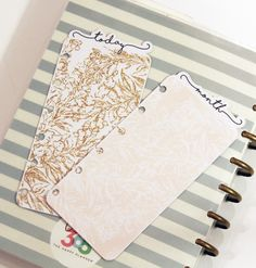 Super easy, chic, and gorgeous DIY Planner Tabs from Felly Bee!