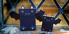 Lavoretti di Halloween: le scatoline-pipistrello di cartoncino