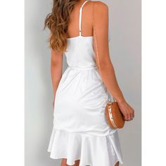 Vestido-Cetim-Taynara-Off Estilo Boho, Boho Fashion, Casual, Ideias Fashion, White Dress, Boho Style, Outfits, Clothes, Dresses