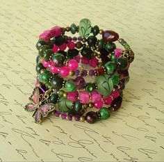 Boho Bracelet Colorful Jewelry Bohemian Jewelry by BohoStyleMe