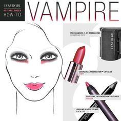 victorian vampire makeup. Halloween