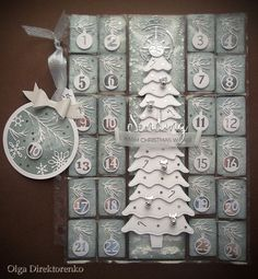 Hi there crafters, it's the Day 20 of WHITE CHRISTMAS paper craft tutorial series! Today's project is my Pocket Letter #10 - an Advent calendar that can be mailed in an envelope. If you would like