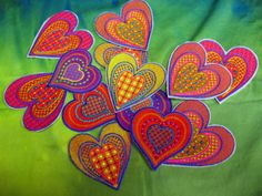 Patsy Thompson blogs about Sarah Vedeler's Hearts embroidery designs.