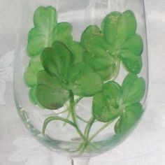 Shamrock hand painted wine glasses by GlassesbyJoAnne on Etsy, $38.00