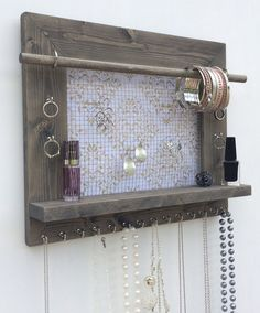 New Size Jewelry Organizer FREE SHIPPING Barn Wood by DivaDisplay