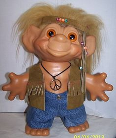 New Hippy CLOTHES for Iggy troll by Dam Auction: Leather vest, jeans  necklace