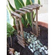 "Fairy Garden ""Miniature Twig Arbor"" by - Miniature fairy gardens - gardening Mini Fairy Garden, Fairy Garden Houses, Gnome Garden, Garden Arbor, Fairies Garden, Garden Trellis, Garden Bed, Fairy Crafts, Garden Crafts"