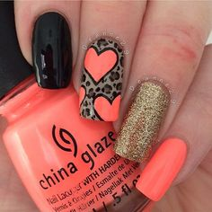 Hey there lovers of nail art! In this post we are going to share with you some Magnificent Nail Art Designs that are going to catch your eye and that you will want to copy for sure. Nail art is gaining more… Read Heart Nail Designs, Simple Nail Art Designs, Best Nail Art Designs, Creative Nail Designs, Pretty Designs, Coral Nail Art, Coral Nails, Coral Pink, Gold Nail
