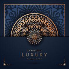 Luxury mandala background with golden ar. Mandala Background, Background Patterns, Vector Background, Mandala Pattern, Pattern Flower, Luxury Background, Arabesque Pattern, Framed Wallpaper, Book Cover Design