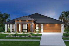 ideas for house exterior colors australia facades Modern House Plans, Modern House Design, Home Design, Design Ideas, Contemporary Design, Modern Exterior, Exterior Design, Villa, Modern Bungalow
