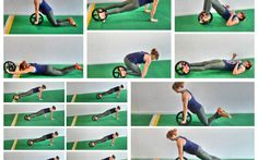 power wheel exercises. core exercises. plank variations. ab exercises