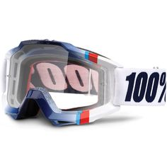 100% Accuri Goggles - White Crystal Clear Lens