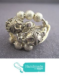 Sterling Silver Statement Ring from FirednWiredJewelry