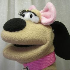 Marcy - Too Cute For Words Girly Dog Hand Puppet (moving mouth). $38.00, via Etsy.