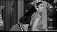 Moe Howard, Suzanne Ridgway | Rumpus in the Harem (1956), a Three Stooges short produced and directed by Jules White; distributed by Columbia Pictures