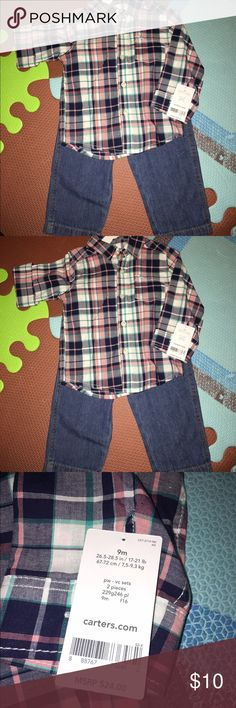 NWT Carter's outfit 9 months NWT Carter's outfit 9 months. Smoke free and pet free home. NEW! Carter's Matching Sets