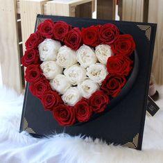 Medium Black Heart Shape Box - Love and Austin
