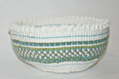 Hey, I found this really awesome Etsy listing at https://www.etsy.com/listing/177624475/beach-glass-inspired-knotted-basket-in
