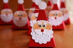 Blütenkelchstanze-Weihnachten-Verpackung-Glitzerpapier