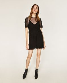 Image 1 of TULLE AND KNIT DRESS from Zara