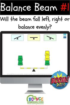 Look at the weights on either side and determine what will happen next. Will the beam fall left, right or remain balanced. This is a fun physics game.