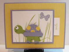 """cute """"punched"""" turtle--adorable card"""