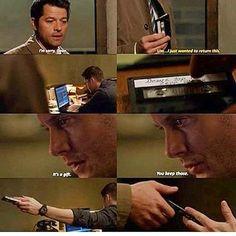 Dean put two FCKING x's. Two FCKING XX! kisses ! He made a mixtape FOR Cas! Chuck knows how long it took him !