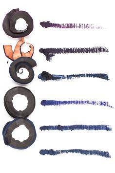 6 waterproof Gel Eye Pencils in dark purple and blue without Shimmer http://www.magi-mania.de/violett-dunkelblau-eye-pencil-kajal-waterproof-wasserfest/
