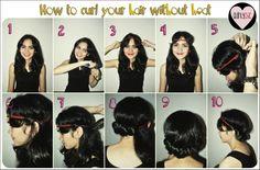 No-heat headband curls