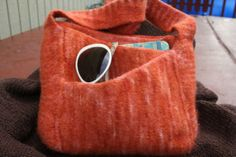 July 2007 Pattern Contest Winner - Slant Pocket Bag by Melissa Thetford - Free Knitting Pattern at Jimmy Beans Wool
