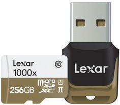 Lexar anuncia Professional 1000x microSD UHS-II (U3) de 256GB