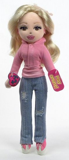 TY GIRLZ SUPERCOOL SERENA TY GIRLS WITH CODE COLLECTIBLE POSEABLE DOLL NWT