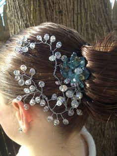 Handmade Wedding Tiara Crystal Comb by PRHeaddress on Etsy, $34.00