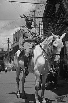 上海公共租界巡捕房骑警 1920s Shanghai Police