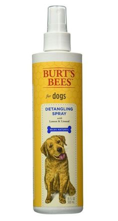 Burt's Bees Lemon & Linseed Oil Dog Detangling Spray 10oz