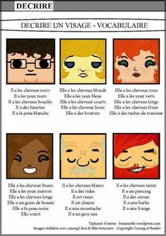 Bonjour FLE lots of cool stuff French Teaching Resources, Teaching French, Teaching Spanish, How To Speak French, Learn French, French Body Parts, French Adjectives, French Flashcards, French Worksheets
