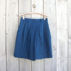 Vintage blue wool shorts by bonmarchecouture on Etsy, $12.00