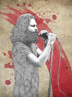 Jim 'Room 27' by Pablo Jurado Ruiz Design You Trust. Jim Morrison ♥ James Douglas Morrison 1943-1971. #JimMorrison #TheDoors #PamelaCourson
