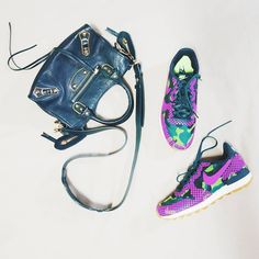 instagram: @quennandher | BALENCIAGA Mini City Metallic Edge bag | NIKE WMNS Internationalist sneakers | Street Style. Look of the day. Outfit of the day. What I Wore. Designer Bag. Flatlays.