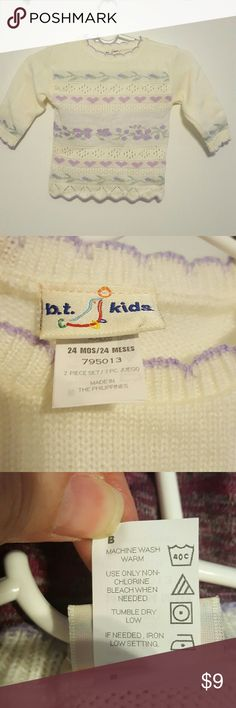 Girls pretty lightweight sweater, 24 months Owned, but my daughter never wore. Looks new. Pretty and dainty design ?? b.t. Kids Shirts & Tops Sweaters
