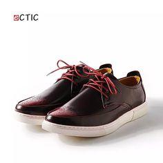 a62bf8a55988b Marka Erkek Ayakkabı Erkek Tahıl Sivri Burun Hakiki Deri Dantel Iş Tören  Ayakkabıları Oxford Derby Ayakkabı