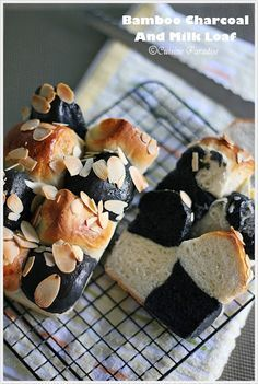 Bamboo Charcoal Milk Loaf - M Charcoal Bread, Sushi Ingredients, Pastry Recipes, Bread Recipes, Black Food, White Food, 5 Recipe, Singapore Food, Bread And Pastries