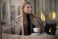 leopard coat coffee celine box bag fashion blog