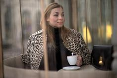 leopard coat coffee celine box bag fashion blog