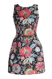 Floral Print Flowers embroidered Sleeveless Dress Price: 115.00